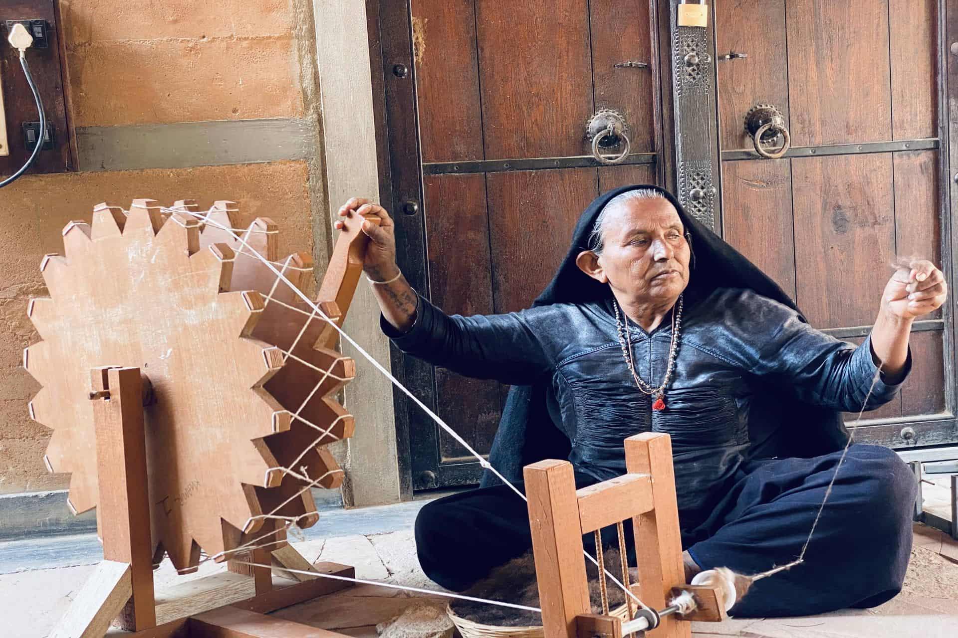 A handloom weaver in Gujarat